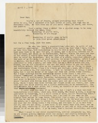 Letter from Katherine Anne Porter to Gay Porter Holloway, April 01, 1930