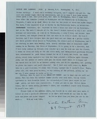 Letter from Katherine Anne Porter to Gay Porter Holloway, August 29, 1959