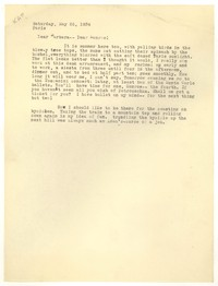 Letter from Katherine Anne Porter to Barbara Harrison Wescott and Monroe Wheeler, May 26, 1934