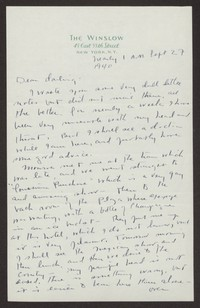 Letter from Katherine Anne Porter to Albert Erskine, September 27, 1940