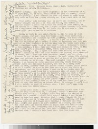 Letter from Katherine Anne Porter to Gay Porter Holloway, January 22, 1954