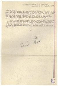 Letter from Katherine Anne Porter to William Goyen, September 19, 1951