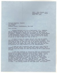 Letter from Katherine Anne Porter to William Humphrey, April 28, 1965