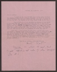 Letter from Katherine Anne Porter to Ann Holloway Heintze, September 14, 1949