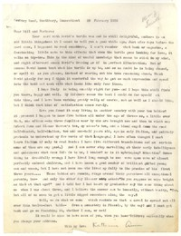 Letter from Katherine Anne Porter to William Jay Smith and Barbara Smith, February 20, 1956