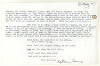 Letter from Katherine Anne Porter to Glenway Wescott, January 23, 1941
