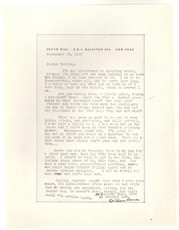 Letter from Katherine Anne Porter to George Platt Lynes, September 29, 1943