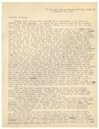 Letter from Katherine Anne Porter to Barbara Harrison Wescott, November 18, 1935