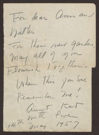 Letter from Katherine Anne Porter to Ann Holloway Heintze and Walter T. Heintze, May 14, 1957