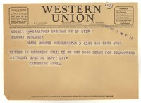 Letter from Katherine Anne Porter to Glenway Wescott, September 29, 1943