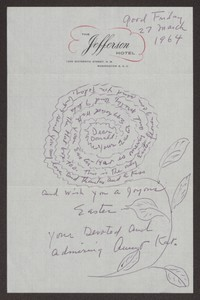 Letter from Katherine Anne Porter to Donald B. Heintze, March 27, 1964