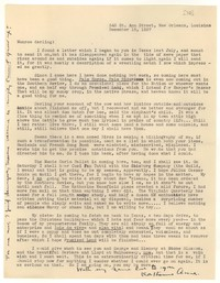 Letter from Katherine Anne Porter to Monroe Wheeler, December 15, 1937
