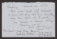 Letter from Katherine Anne Porter to Paul Porter Jr., March 02, 1976