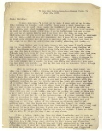 Letter from Katherine Anne Porter to Josephine Herbst, July 25, 1935