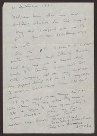 Letter from Katherine Anne Porter to Ann Holloway Heintze and Walter T. Heintze, September 10, 1951