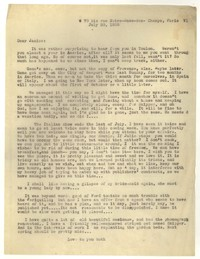Letter from Katherine Anne Porter to Janice Biala, July 20, 1935