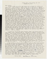 Letter from Katherine Anne Porter to Gay Porter Holloway, January 19, 1944