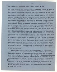 Letter from Katherine Anne Porter to Allen Tate, January 12, 1962