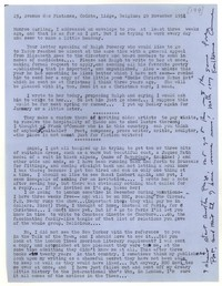 Letter from Katherine Anne Porter to Monroe Wheeler, November 29, 1954