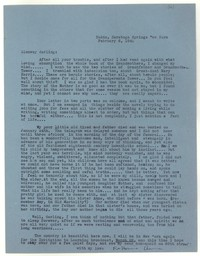 Letter from Katherine Anne Porter to Glenway Wescott, February 06, 1942