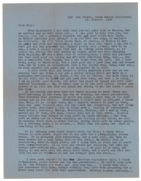 Letter from Katherine Anne Porter to Mary Louis Doherty, January 14, 1947