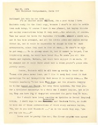 Letter from Katherine Anne Porter to Barbara Harrison Wescott and Monroe Wheeler, May 31, 1934