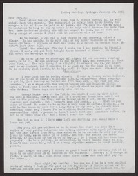 Letter from Katherine Anne Porter to Albert Erskine, January 23, 1941