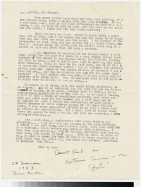 Letter from Katherine Anne Porter to Gay Porter Holloway and Ann Holloway Heintze, November 23, 1953