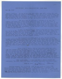 Letter from Katherine Anne Porter to Monroe Wheeler, May 12, 1943