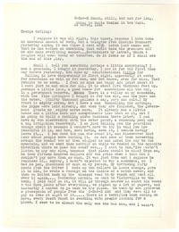 Letter from Katherine Anne Porter to George Platt Lynes, March 28, 1946