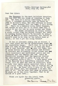 Letter from Katherine Anne Porter to Donald Elder, July 30, 1940
