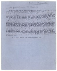 Letter from Katherine Anne Porter to Barbara Thompson Mueenuddin Davis, August 02, 1962