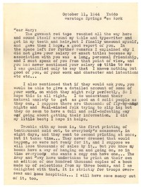 Letter from Katherine Anne Porter to Mary Louis Doherty, October 11, 1944