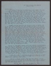Letter from Katherine Anne Porter to Paul Porter Jr., June 05, 1942