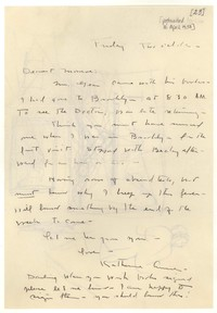 Letter from Katherine Anne Porter to Monroe Wheeler, April 30, 1937