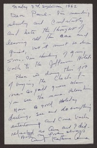 Letter from Katherine Anne Porter to Paul Porter Jr., September 03, 1962