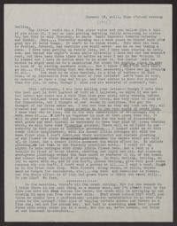 Letter from Katherine Anne Porter to Albert Erskine, January 13, 1938