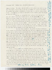 Letter from Katherine Anne Porter to Gay Porter Holloway, November 05, 1955