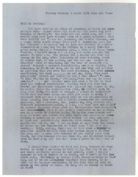 Letter from Katherine Anne Porter to William Goyen, April 03, 1951