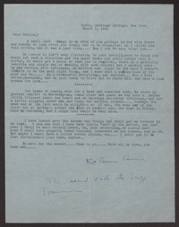 Letter from Katherine Anne Porter to Albert Erskine, March 05, 1941