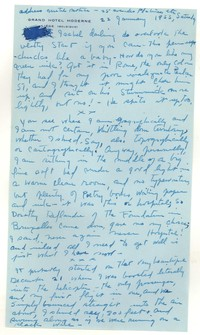 Letter from Katherine Anne Porter to Isabel Bayley, January 22, 1955