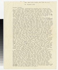Letter from Katherine Anne Porter to Gay Porter Holloway, October 20, 1948