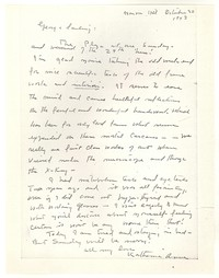 Letter from Katherine Anne Porter to George Platt Lynes, October 20, 1943