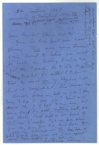 Letter from Katherine Anne Porter to Eleanor Clark Warren and Robert Penn Warren, September 22, 1967