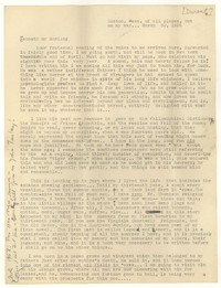 Letter from Katherine Anne Porter to Kenneth Durant, March 30, 1936