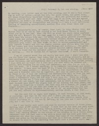Letter from Katherine Anne Porter to Albert Erskine, February 06, 1938