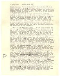 Letter from Katherine Anne Porter to Isabel Bayley, March 12, 1954
