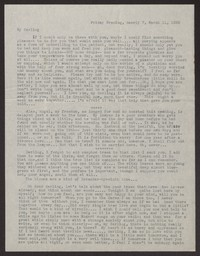 Letter from Katherine Anne Porter to Albert Erskine, March 11, 1938