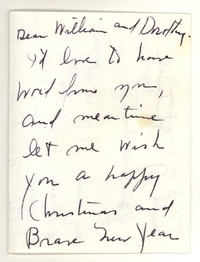 Letter from Katherine Anne Porter to William Humphrey and Dorothy Humphrey, December 25, 1957