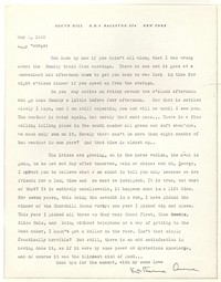 Letter from Katherine Anne Porter to George Platt Lynes, May 03, 1943